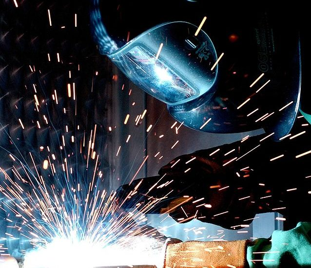 A man doing welding