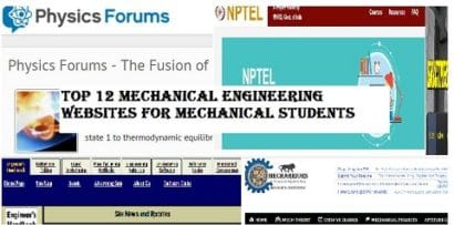 Top 12 Mechanical Engineering websites for the students to visit regularly