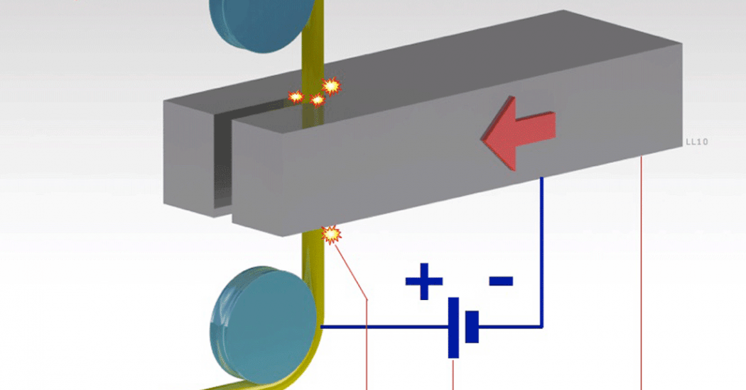 electrical discharge machining operation