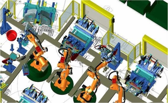 Robotic_simulation_using_Robcad_software