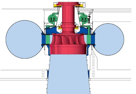 Francis Turbine Side view